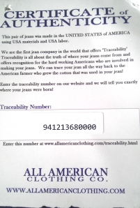 traceability number