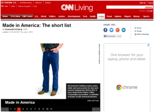 Made in America- the short list